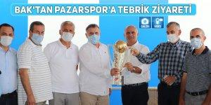 Bak'tan Pazarspor'a tebrik ziyareti