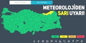 Meteorolojiden Rize ve çevresi için sarı uyarı