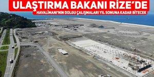 Havalimanı'nın dolgu çalışmaları yıl sonuna kadar bitecek