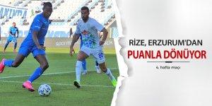 Rize, Erzurum'dan puanla döndü