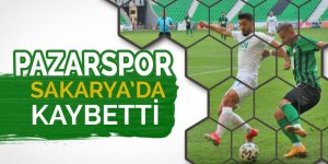 Pazarspor Sakarya'da kaybetti