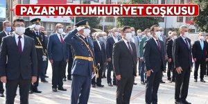 Pazar'da Cumhuriyet coşkusu