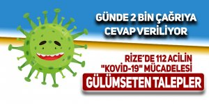"""112 acilin zorlu """"Kovid-19"""" mücadelesinde gülümseten talepler"""