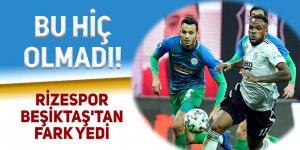 Rizespor Beşiktaş'tan fark yedi