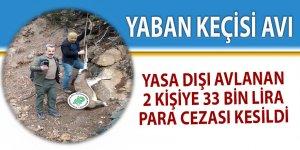 Yasa dışı avlanan 2 kişiye 33 bin lira para cezası
