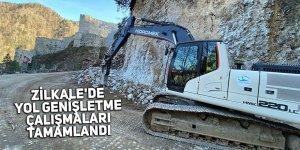 Zilkale'de yol genişletme çalışmaları tamamlandı