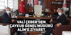 Vali Çeber'den ÇAYKUR Genel Müdürü Alim'e ziyaret