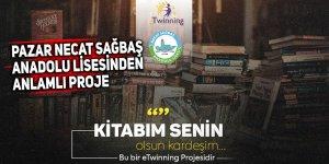 Pazar Necat Sağbaş Anadolu Lisesinden anlamlı proje