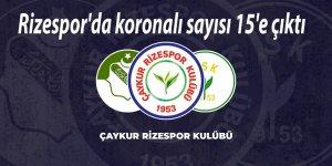 Rizespor'da koronalı sayısı 15'e çıktı