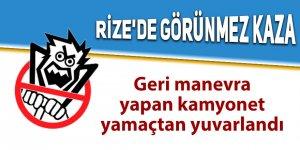 Rize'de görünmez kaza: 3 yaralı