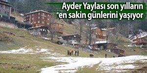 Ayder Yaylası son yıllarda en sakin günlerini yaşıyor