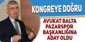 Pazarspor başkanlığına adaylığını ilan etti
