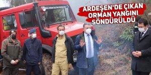 Ardeşen'de çıkan orman yangını söndürüldü