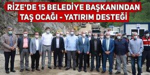 Rize'de 15 belediye başkanından taş ocağı desteği