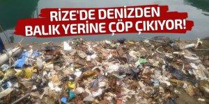Rize'de denizden balık yerine çöp çıkıyor!