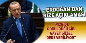 Erdoğan: Rize'de görüldüğü gibi gayet güzel ders veriliyor