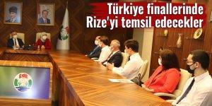 Türkiye finallerinde Rize'yi temsil edecekler
