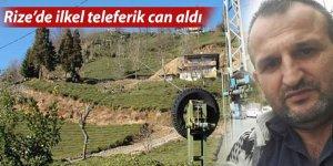 Rize'de yine teleferik kazası: 1 ölü