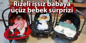 Rizeli işsiz babaya üçüz bebek sürprizi