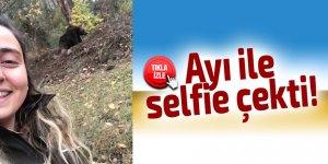 Ayı ile selfie çekti!
