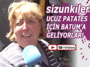 UCUZ PATATES İÇİN BATUM'A GİDİYORLAR