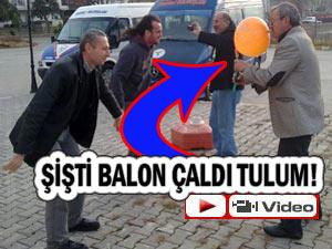 TULUMU BALONA BAĞLAYIP ÇALDILAR!